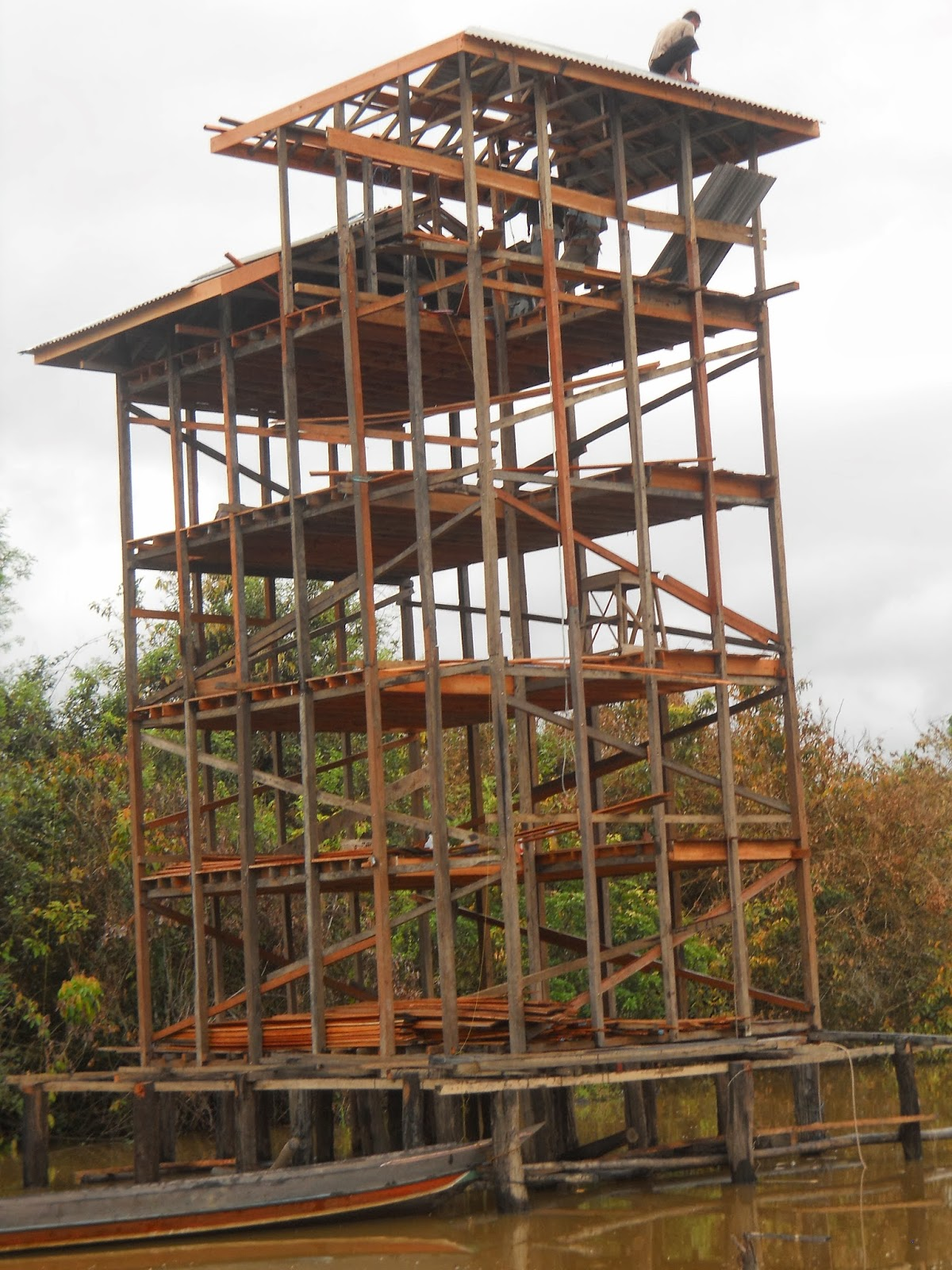 Contoh desain rumah walet dari kayu